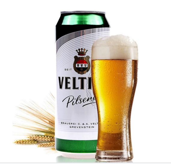 进口啤酒费尔廷斯veltins听装皮尔森啤酒德国啤酒批发 24*500ml